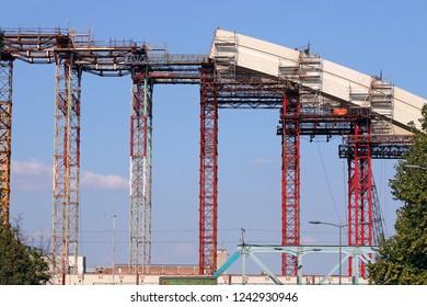 new bridge arc construction site