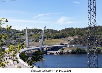 New bridge in Farris. Larvik, Norway.