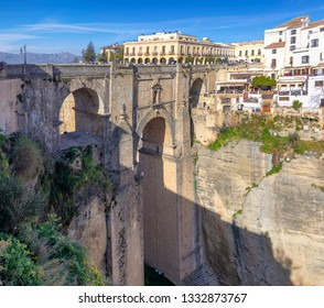 New bridge of Ronda (Puente Nuevo), Spain over the Tajo Gorge