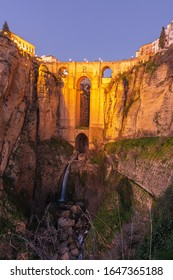 The New Bridge in Ronda, a town in the province of Malaga.