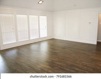 New Bright Clean House with Dark Wood Flooring