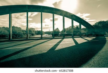 New Brislington Bridge B Bristol England Long Exposure Motion Blur Black and White Split Toning