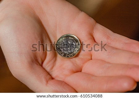 new british pound sterling one pound stock photo edit now