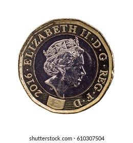 New British Sterling One Pound Coin (£1 GBP) UK