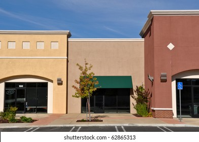 New Brown and Yellow Shopping Center Store Front