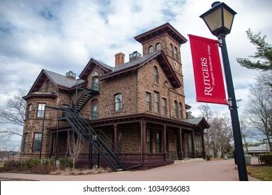NEW BRUNSWICK, NEW JERSEY - February 26, 2018: College Hall on campus; Douglass College celebrates 100 year anniversary