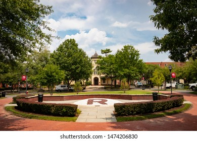 New Brunswick, NJ - August 8, 2019: View of the Rutgers University campus, with Bishop House in the distance.
