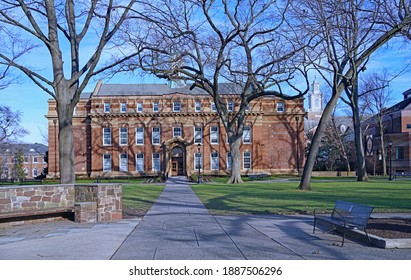 New Brunswick, NJ, USA - December 27, 2020:  Rutgers University, old historic campus founded in 1766