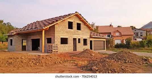 New build house, La Grand Larra, Gap, Haute Provence, France.