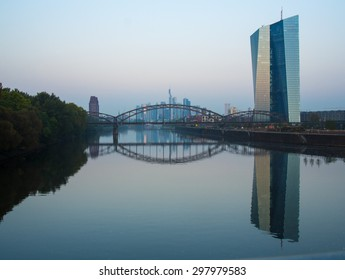 The new building of the European Central Bank in Frankfurt, Germany