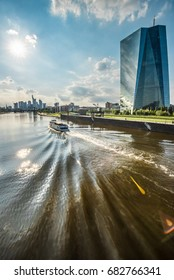 new building of european central bank ECB in Frankfurt, Germany