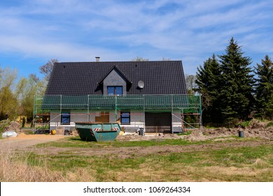 A new building house in the Spreewald