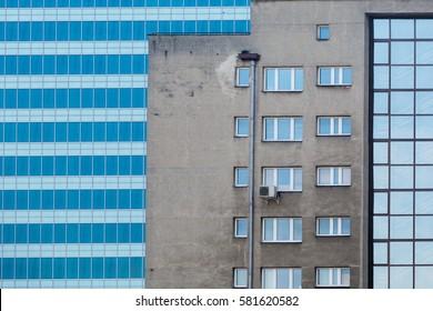 New building versus old building in Warsaw