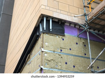 New building wall insulation and cladding
