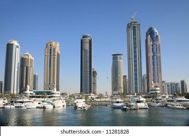 New Buildings rising in Marina Dubai UAE