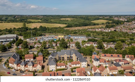 New built residential area in Colchester
