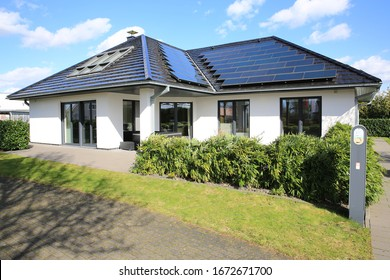 New built single-family home in traditional style in Westphalia, Germany, 03-11-2020