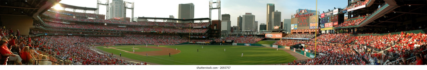 The New Busch Stadium Home of the Saint Louis Cardinals (Panoramic View stitched from six images)