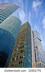 New business center buildings in Moscow