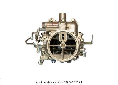 New car carburetor isolated on white background