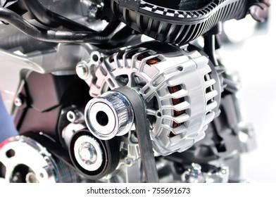 New car generator on a sample engine.