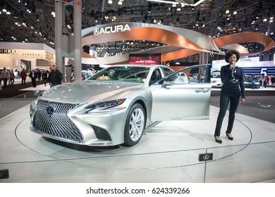 New cars on New York Auto Show 2017. Lexus LS 2018