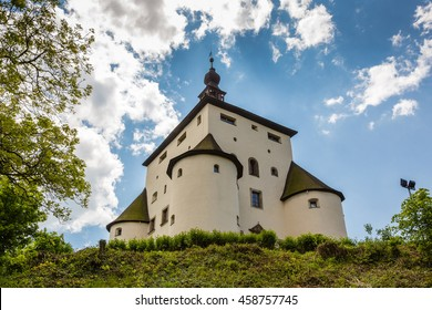 New Castle above the historic city of Banska Stiavnica, Slovakia