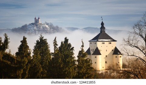 New castle and Calvary in Banska Stiavnica, Slovakia UNESCO