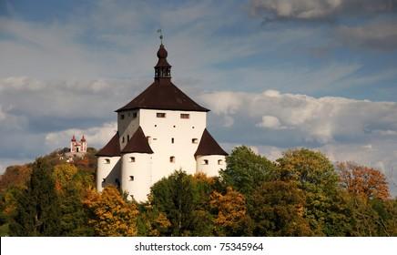 New Castle and Calvary in Banska Stiavnica, Slovakia