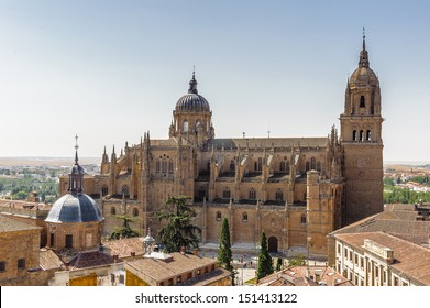 New Cathedral (Catedral Nueva), one of the two cathedrals of Salamanca, Spain.