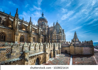 New cathedral or Catedral Nueva in Salamanca, Spain