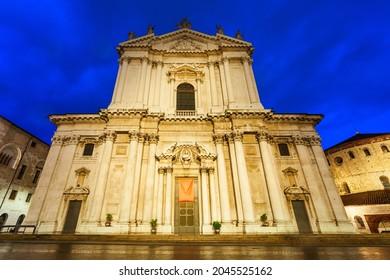 New Cathedral or Duomo Nuovo in Brescia city in north Italy