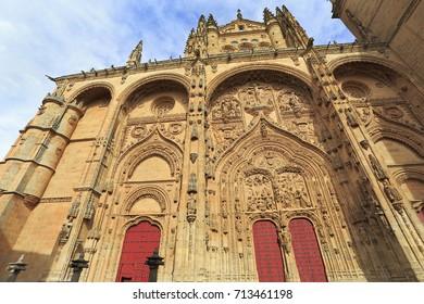 New Cathedral of Salamanca facade, Spain