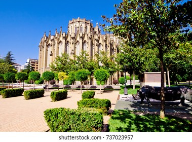 The new Cathedral in Vitoria-Gasteiz, Basque country, Spain.