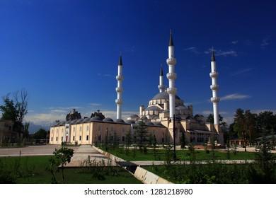 New Central Mosque, Bishkek, Kyrgyzstan.