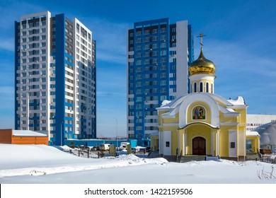 New Church of saints Cyril and Methodius in the city Kemerovo, Kemerovo region