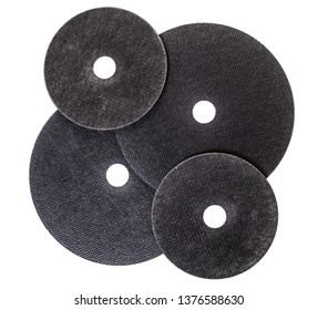 new circles for a power saw on the white isolated background