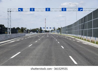 New city bypass road empty from cars