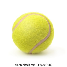 New classic single tennis ball isolated on white