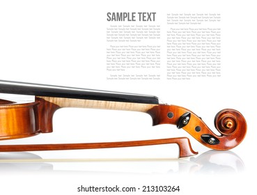 new classical violin on white background template