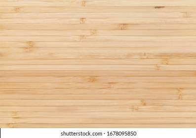 New clean bamboo board with striped pattern, flat background photo texture, frontal view