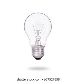 New clear home light bulbs. Studio shot isolated on white background