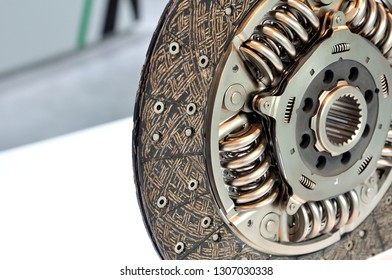 New clutch disk closeup with selective focus.