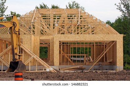New construction of a home in a subdivision