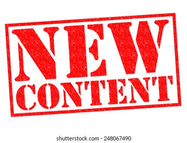 NEW CONTENT red Rubber Stamp over a white background.
