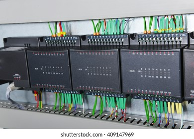 New control panel with electrical equipment