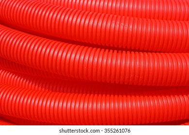New corrugated PVC pipe for laying electric cable