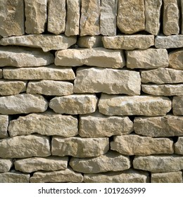New cotswold drystone wall