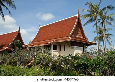 new cottage in tropical garden