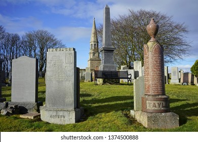 New Deer Aberdeenshire Scotland March 25 2018 Culsh Monument memorial to William Dingwall Fordyce Liberal Member of Parliament for Aberdeenshire Scotland